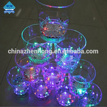 Wholesale Lighted Wine Glasses Cup With Flashing Led Lamp ,Plastic Flashing Lamp Whisky Cup For Pub Supplies