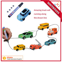 Kids Follow Any Drawn Line Magic Pen and Car Inductive Truck Toys
