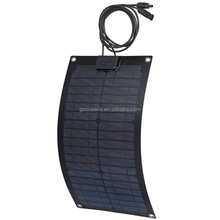 New style semi flexible solar panel 18w 12v with long life span charging 12V battery CE RoHS certificate