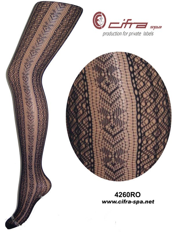 [Hosiery Tights Fancy Fishnet - calze a rete] Baguette Pattern Pantyhose - 04260ROCL