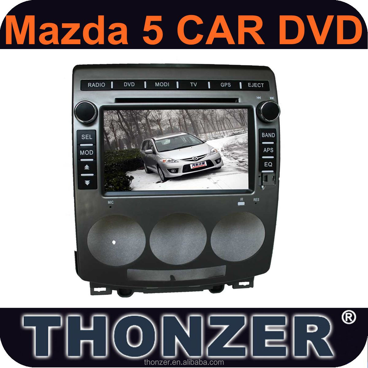 CAR DVD FOR MAZDA 5 dvd with gps navigation 2006-2012(TZ-MZD507)