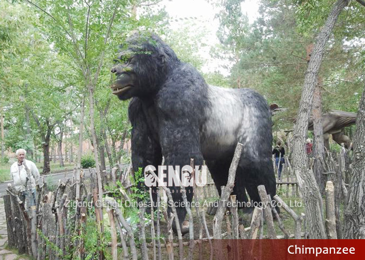 Theme park high quality gorilla statues for sale