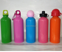 500ml metal water bottle with carabiner