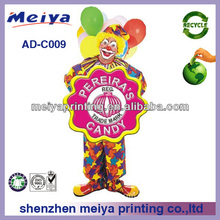 Cartoon Cardboard lifesize standee/cardboard clown cutouts for candy promotion/ cardboard displays