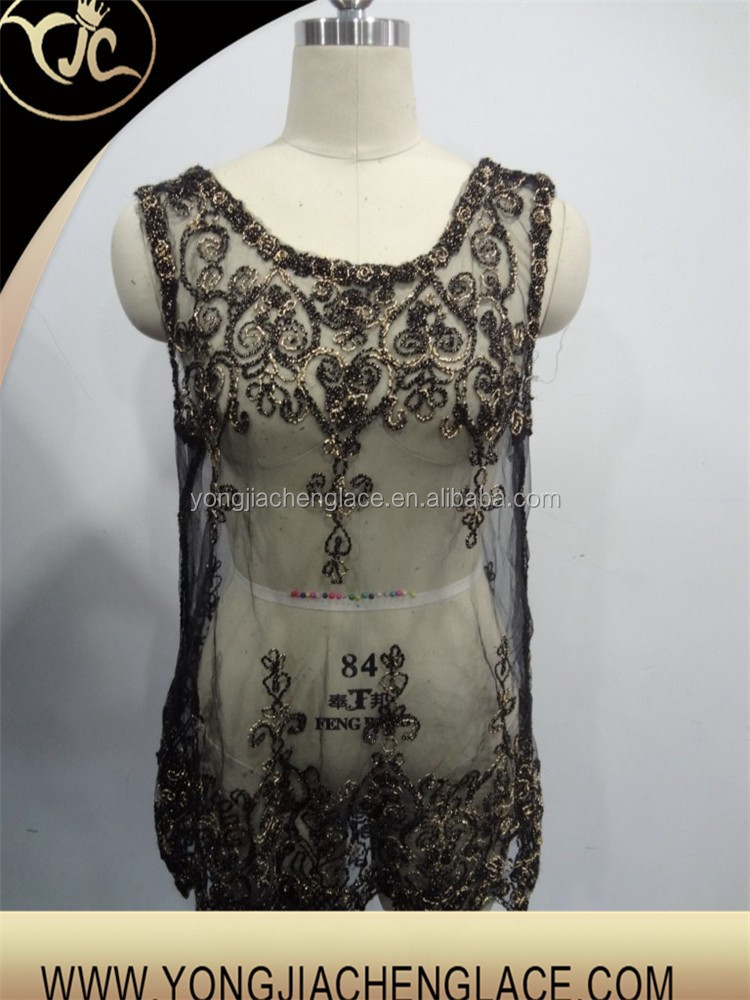 2015 new design fashion embroidered tops sexy women lace blouse (YJC90042)