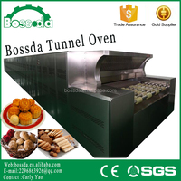BOSSDA professional LPG automatic bread production line tunnel pizza oven
