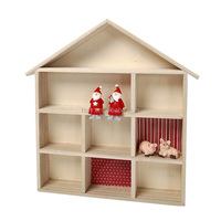 house decoration crafts wooden wall huse shelf shadow storage box