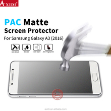 0.2MM Best Anti-shock Bubble free HD clear anti-glare PAC screen protector for Galaxy A3 2016
