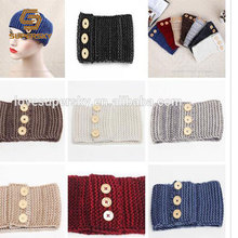 M304 New fashion wide crochet headgear with button