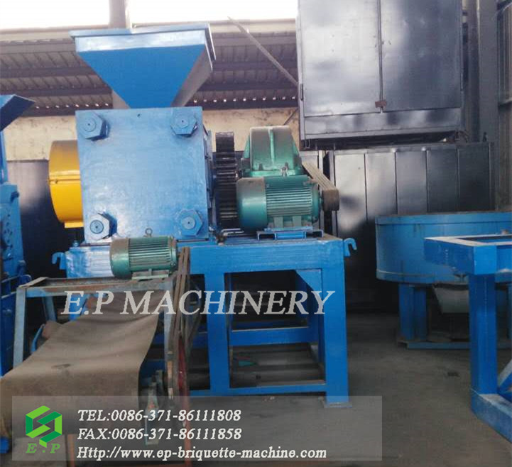 Large capacity hydraulic type roller press machine coal ball briquette