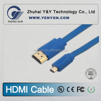 1.4 Version High quality micro hdmi cable for 1080P, 3D, with Ethernet, metal housing, 180 rotating