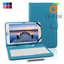 7 inch Universal Keyboard Leather Case for tablet,Tablet PC with Stand