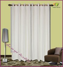 New luxurious chenille grommet top curtain design for hotel