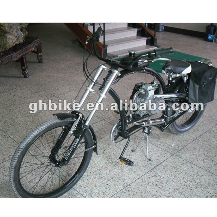 "26"" new style 4 stroke 80cc beach cruiser gas engine bike"