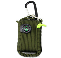 outdoors parachute cord wrapped emergency survival tool box life rescue package multi tools, Camping fishing hunting suit