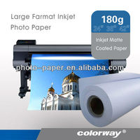 Matte coated paper & plotter paper rolls &a4 adhesive photo paper (professional)