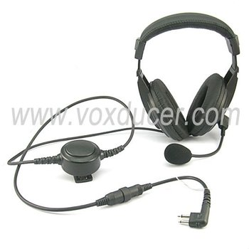 [M-E1965-M]Headset with detachable extendable boom mic for Motorola handheld walkie talkie radio GP Series GP300 GP308 GP68