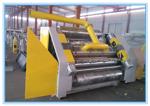 single facer machine for corrugated paperboard