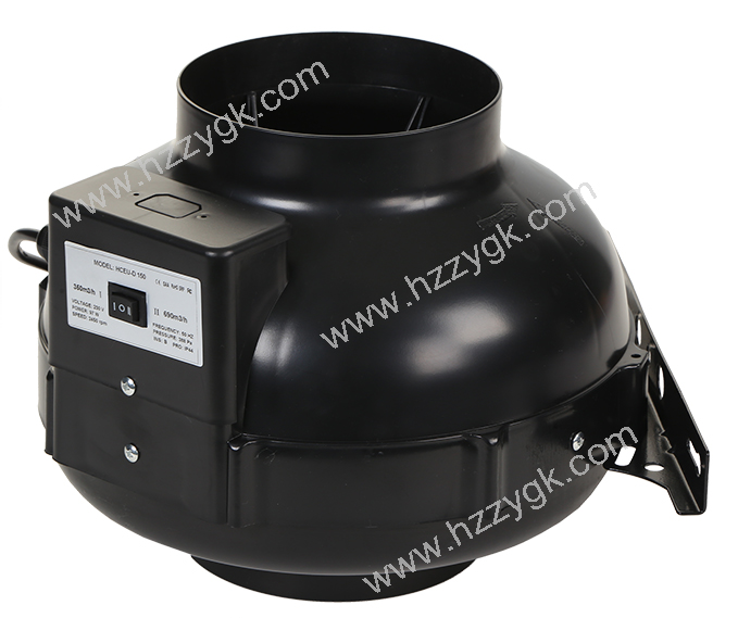 Inline Fan Structure : Inline air blower fan with two speed controll suitable for