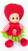 14 inch Filling cotton plush doll baby love dolls Strawberry toys