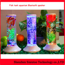 Bluetooth speaker with LED plastic aquarium fish tank