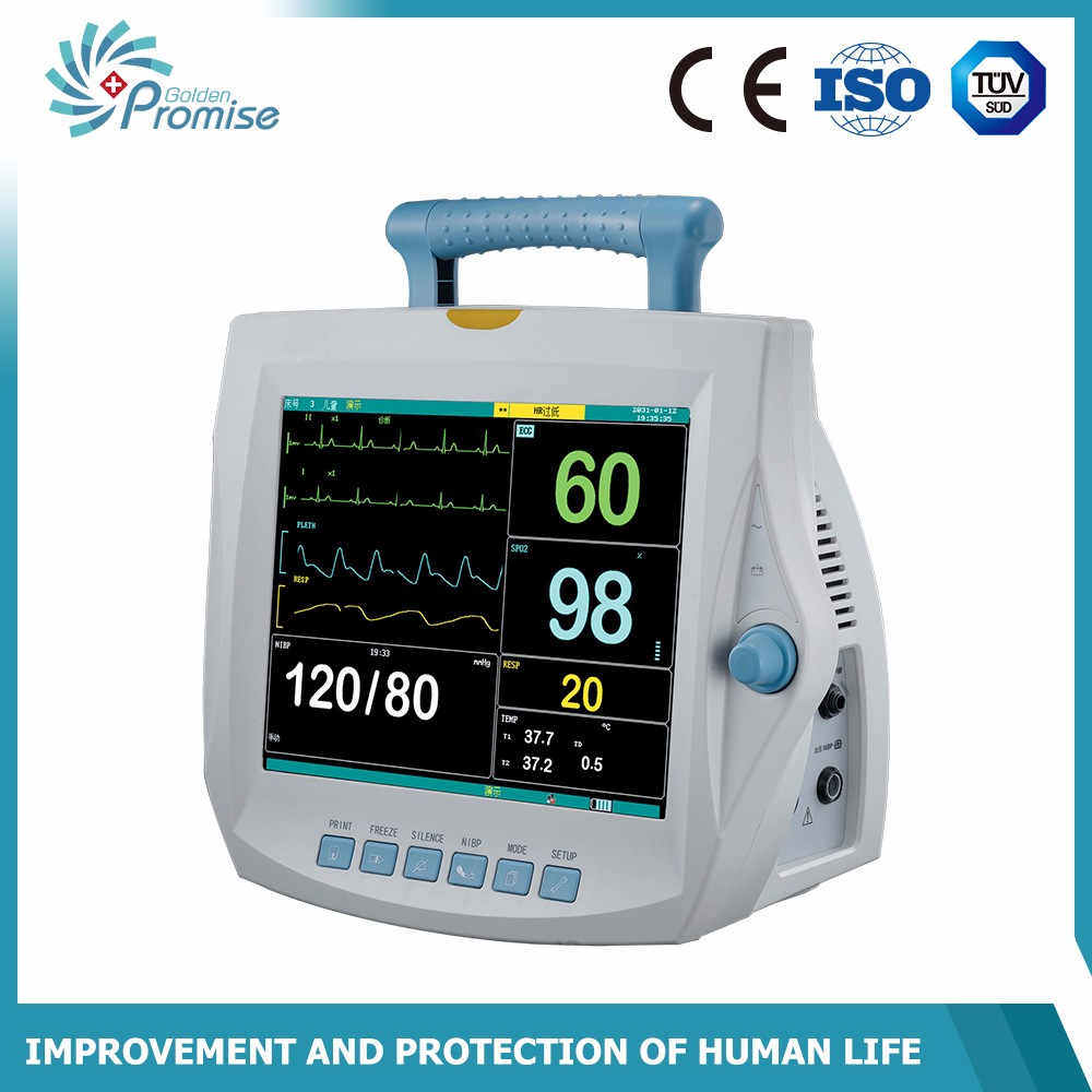 Cheapest best selling top quality patient monitor for PR, TEMP, RESP, ECG, SPO2, B