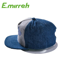 Factory wholesale custom blank flat brim 5 panel snapback cap hat with good quality