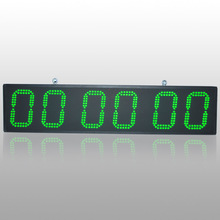 Green LED Color 6 Inch 6 Digit Race Game Event Countdown Clock Outdoor