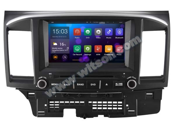 WITSON ANDROID 4.4 FOR MITSUBISHI LANCER DVD WITH STEERING WHEEL CONTROL WITH 1080P 1G DDR RAM 8GB 1.6GHZ FREQUENCY FLASH