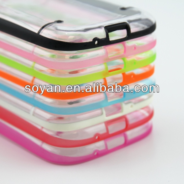 Wholesale 2013 newest products, 2 in 1 hybrid cases TPU + PC cover for Samsung Galaxy S3 i9300, Hybrid cases with stand function
