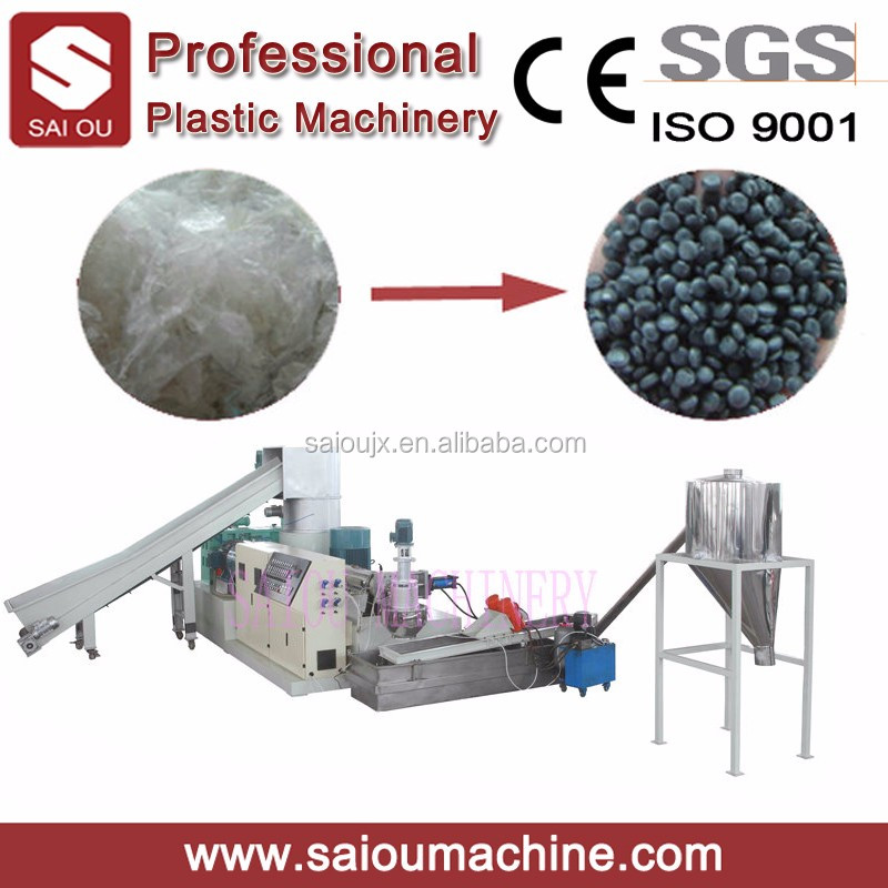 High Quality Single Stage Plastic Film Granulation Line With Compactor