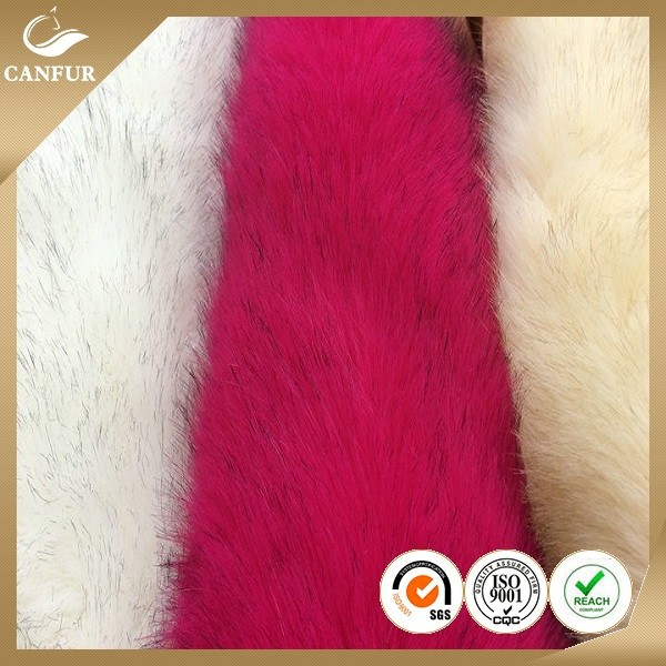 Wholesale promotional product colorful faux fabric fur for garments fox fake fur fabric for upholstery