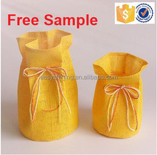 Very Cheap Price paper cloth flower pot Cover with Plastic liner ESF0037
