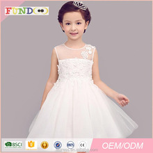 Sleeveless Puffy Wedding Flower Girls Dress with Lace appliqued for Prom Princess Dresses