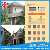 Color spanish red laminated asphalt shingle tile roof