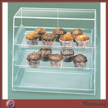 Transparent Acrylic Cupcake Food Display Stand Stackable Food Holder Bins