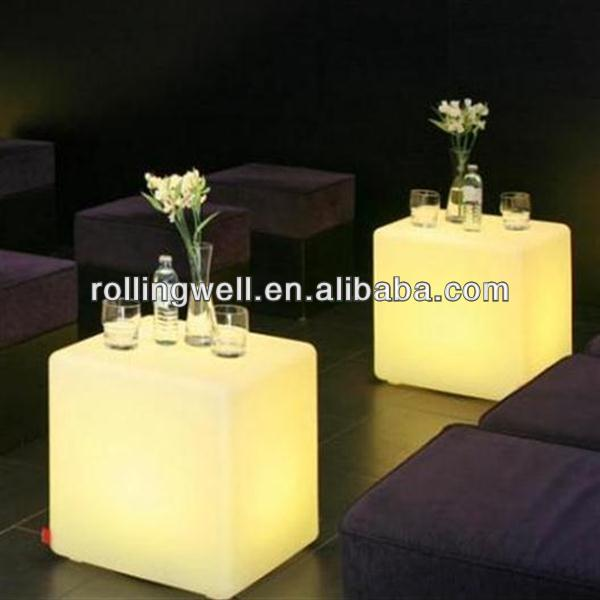 glowing led bar table illuminated furniture for outdoor use and party and bar and hire company