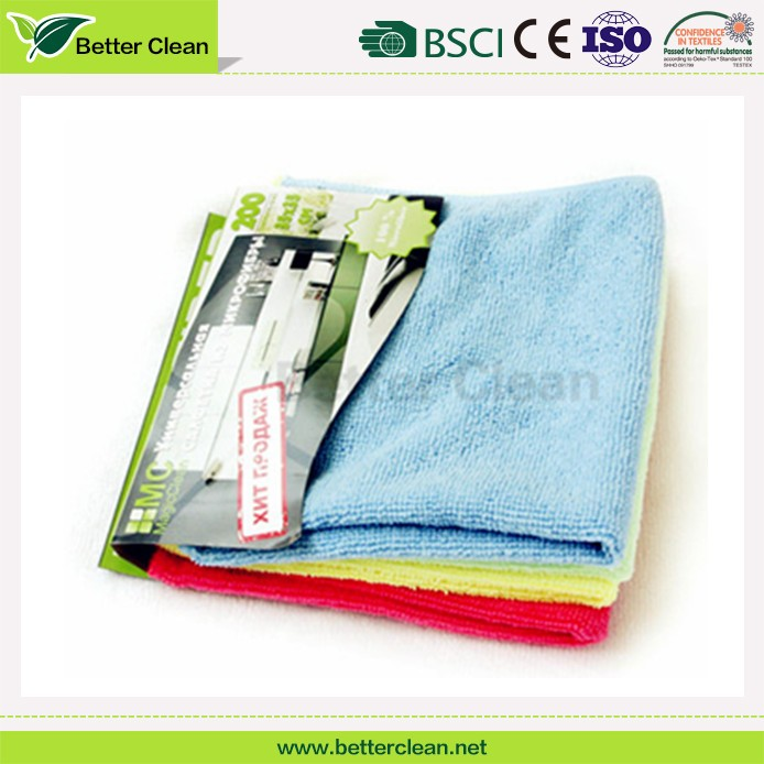 Hot sale style dish wash cleaning microfiber material kitchen towels bulk
