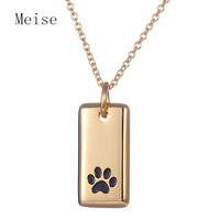 Yiwu Meise Stainless Steel Personalized Dog Paw Print Pendant stainless steel necklace