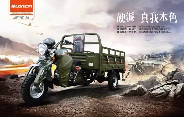 Loncin 210cc/260cc heavy load adult delivery China cargo motor adult tricycle / tricycle cargo bike truck