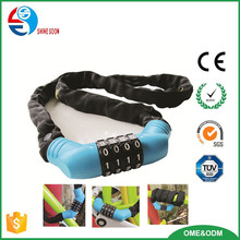 New Design Bike Accessories Steel Password Chain Bike Lock