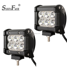 IP67 4 inch spot / flood beam offroad mini 18w led light bar / working light 12v 24v for trucks