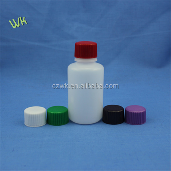 100ml laboratory reagent bottlewith colorful caps