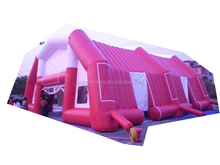 pvc inflatable building giant inflatable cube tent for wedding