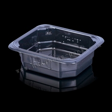 Black square plastic disposable custom made food packaging container, disposable plastic heat retaining food container