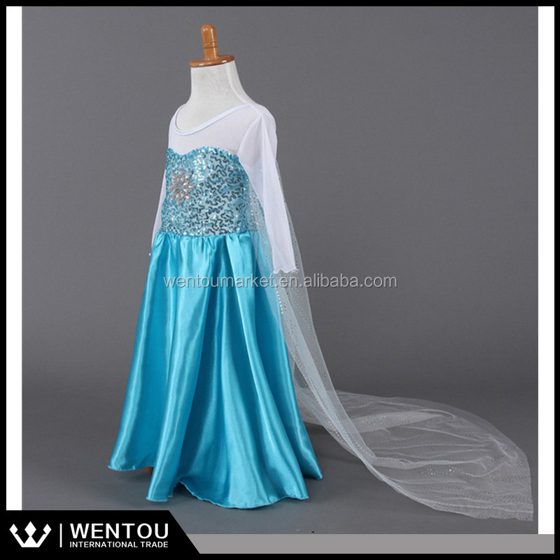 Party dress bulk wholesale tulle dress Frozen Elsa tutu dress