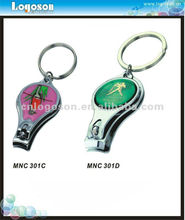 Promotional metal trim nail clipper with holder