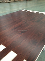 high quality low glossy UV matt lacquered ABC grade walnut color Acacia flooring