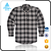 Gingham cheap men plaid flannel long sleeve thick shirts
