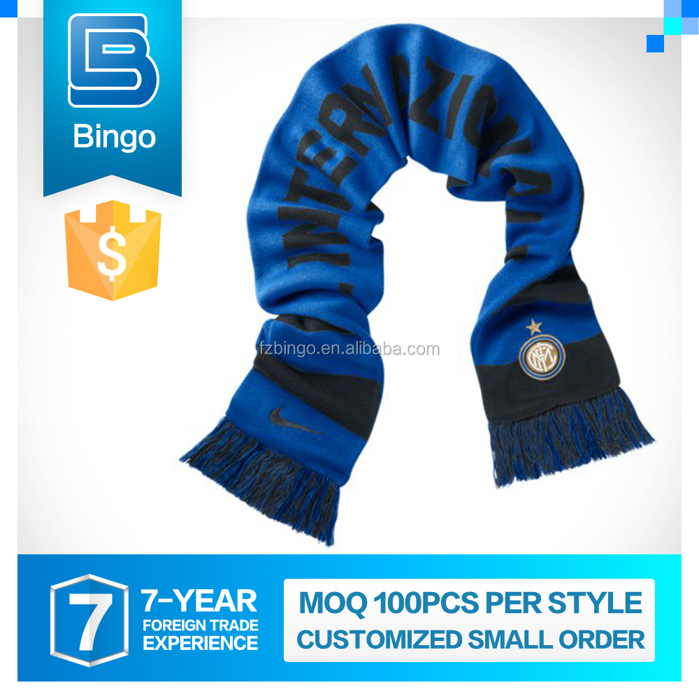 High-End Handmade Customization Customized 100% Polyester Knitted Scarf